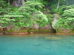 P1010654 Boat trip on Lake Towada - crystal-clear water (drayy) Tags: trip lake japan boat ride aomori  tohoku touhoku   towadako towada