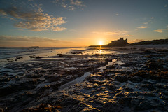 "Bamburgh Castle from Rock Pools at Sunrise • <a style=""font-size:0.8em;"" href=""https://www.flickr.com/photos/21540187@N07/8154196667/"" target=""_blank"">View on Flickr</a>"