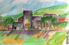 GREEN GREEN GRASS OF HOME (roberthuffstutter) Tags: style expressionism impressionism huffstutter watercolorsbyhuffstutter artmarketusa