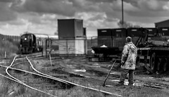 Switching lanes. WH Davis Ltd (Shirebrook) 21-03-2014 (kevaruka) Tags: england bw sexy clouds composition canon eos boobs derbyshire retro milf britishrail shunter ruleofthirds lunaphoto shirebrook ef135f2l wagonworks 5dmk3 winter2014 march2014 ilobsterit