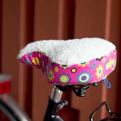 Warm Bike Seat Cover (mmoborg) Tags: flowers fabric mijas mmoborg mijashandmadecreations