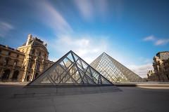 TWO (Rober1000x) Tags: longexposure paris france museum architecture clouds arquitectura europa europe louvre architect pei 2014