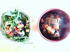Arugula salad from the garden and... (Mikey Sklar & Wendy Tremayne) Tags: newmexico leftovers lowcarb paleo keto ketogenic lchf uploaded:by=flickstagram ketolife ketolifestyle instagram:photo=1212651605375008454804953022