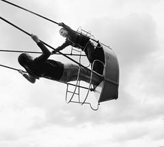 swingin' into the weekend-- (judydeanclasen) Tags: sky space swing girls highup