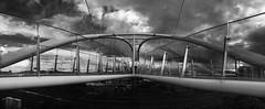 Seabrae's Bridge, Dundee #dundee #scotland #bridge #blackandwhite #iphonephoto (KDCoco) Tags: bridge blackandwhite scotland dundee iphonephoto