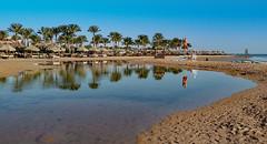 low tide beach walk (werner boehm *) Tags: egypt sharmelsheikh gypten ebbe wernerboehm nebqbay