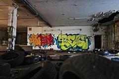 Rian x Begr (germanfriday) Tags: street streetart art graffiti detroit friday rian graffitiart atlarge ontherun motorcity dirty30 graffitiwriters detroitgraffiti begr leicat germanfriday worstguysever piecesofdetroit killthematador thegermanfriday
