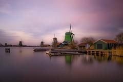 One minute (karinavera) Tags: longexposure travel houses sunset holland countryside day outdoor windmills filter nd slowshutter zaanseschans zaandam ndfilter nikond5300