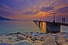Just Feel It (briantang0703) Tags: bridge sunset sea sky cloud hongkong airport exposure