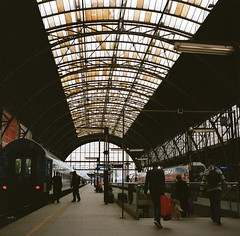 Praha station (Saori_) Tags: flower film rolleiflex czech prague praha
