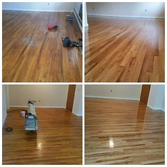 Before and after #Sanding #refinishing #hardwood #floors natural color New Windsor NY 12550 (floorandpaint) Tags: sanding hardwood floors refinishing
