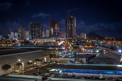 Waikiki City Nights (Distinct.Origin) Tags: life new city light sky cloud color car night canon dark landscape lights hawaii construction exposure flickr day cityscape different view waikiki random adobe views hawaiian newbie dslr edit distinct 60d tumblr instagram