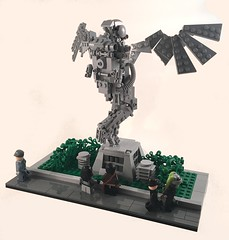 Monument to Major Tom (goatman461) Tags: park statue lego