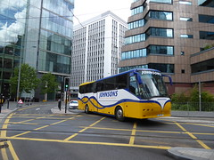 Coaches Around Birmingham (metrogogo) Tags: yellow birmingham johnsons tramlines johnsonscoaches