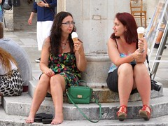 Ice Cream break (rockyenta) Tags: tourists dubrovnik croatia ice cream break resting ladies
