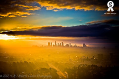 L.A. amongst the clouds! ( In 2 Making Images | L.A.) Tags: blue love weather skyline sunrise eos la los skyscrapers hollywood destination cloudysky digitalphotography lasunrise loangeles freeway101 downtownlaskyline morningphotography skycreative angelesi canonrebelt2i albertvalles photographycaliforniadiscover couldsskywater bestspottoshotla placeamazing