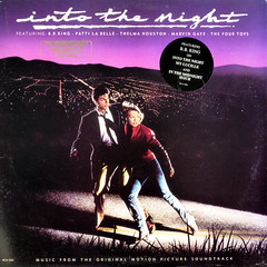 Into The Night (epiclectic) Tags: music art film vintage movie promo album vinyl retro collection jacket cover lp record 1985 promotional sleeve soundtrack atthemovies jeffgoldblum epiclectic michelepfeifer