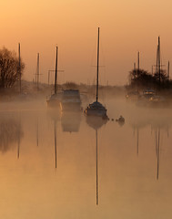 Mist opportunities....... (Chrisconphoto) Tags: mist reflections river boats for dorset wareham