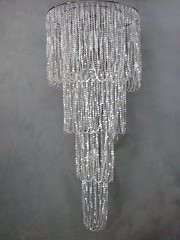 3-Tiered Crystal Chandelier (Celadon Events) Tags: party crystal rental event chandelier hollywood theme elegant decor accent props ceilingtreatment