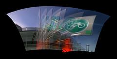 bike path (Neil) Tags: autostitch bicycle sign