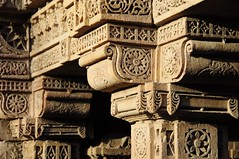 Adalaj ni Vav (Saumil U. Shah) Tags: travel wallpaper india history tourism monument beautiful architecture golden tourist historic well step hour gandhinagar desktopwallpaper goldenhour gujarat ahmedabad stepped shah vav stepwell  adalaj saumil incredibleindia   saumilshah