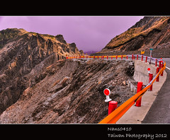 Golden Mountains (nans0410) Tags: road sun fog taiwan  hualien     hehuanmountain sioulintownship 14  mygearandme mygearandmepremium mygearandmebronze