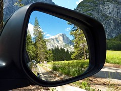 Closer than they appear (flyingtoadphotography) Tags: mirror nationalpark reflected yosemite halfdome relections objectsinthemirrorarecloserthantheyappear