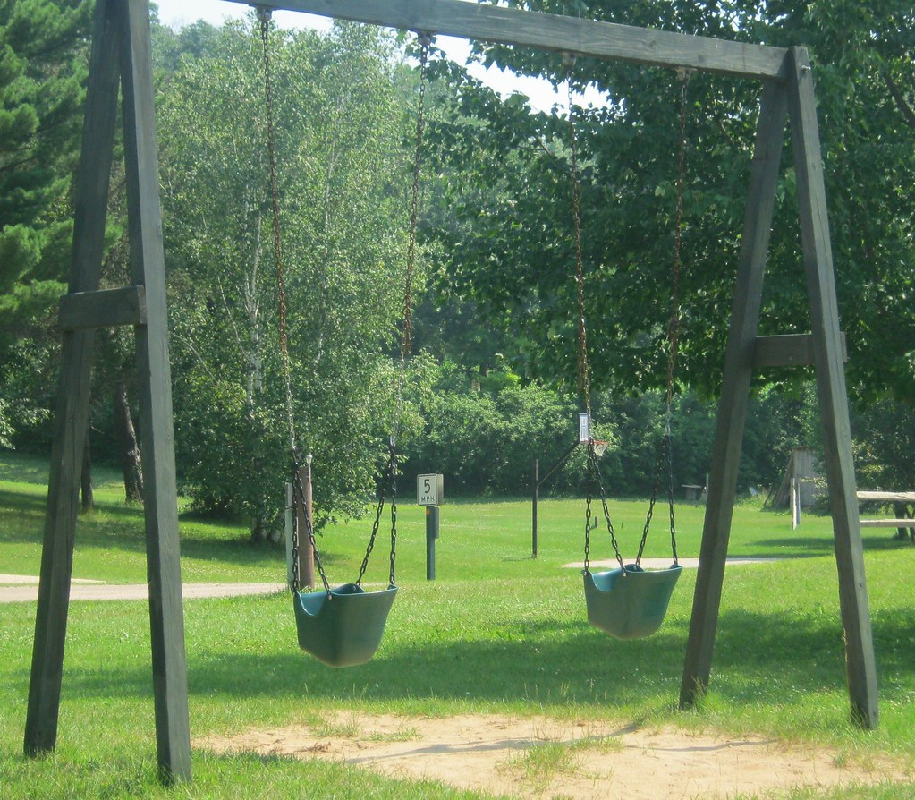 Playground swingsets for hours of fun!