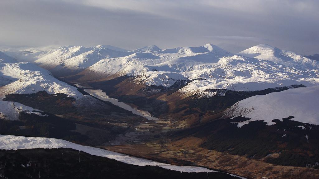 Loch Voil, Ben More and Stob Binnein and the Crianlarich Munros