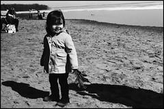 Oka Coco (Andre Guerette) Tags: baby slr film beach analog 35mm leaf montreal f1 coco oka canonf1 personalgeography parcdoka okanationalpark cocova andrgurette