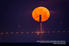 Super Moonset Over Golden Gate Bridge San Francisco May 5 2012 (davidyuweb) Tags: sanfrancisco california bridge usa moon golden gate san francisco 5 over may super moonset 2012 sfist supermoon