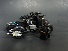 Comparison (billbobful) Tags: dark pod lego bruce wayne bat batman knight batmobile begins rises batpod