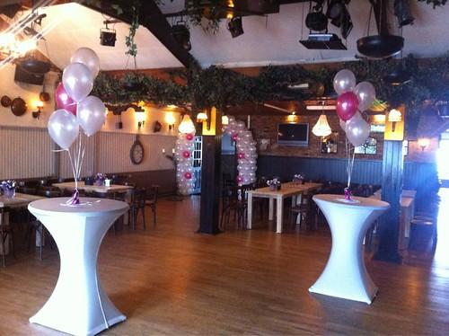 Tafeldecoratie 5ballonnen Zaal Beatrix Schiedam