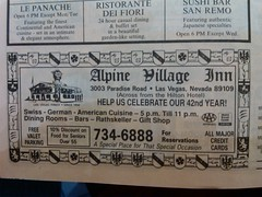 Alpine Village 1992 (frankasu03) Tags: las vegas restaurant 60s village retro alpine 80s 70s 50s 90s eateries
