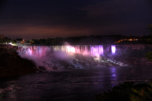 American Falls At Night, Ontario, Canada