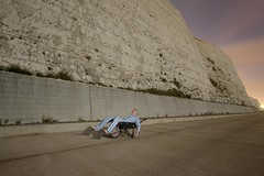 Fast asleep (Alex Bamford) Tags: cliff chalk sleep cliffs moonlight pyjamas wheelbarrow saltdean rottingdean sleepwalking alexbamford