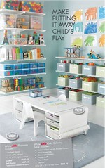 Coloring Table & Shelves (Heath & the B.L.T. boys) Tags: art crafts rug organize playroom thecontainerstore playtable