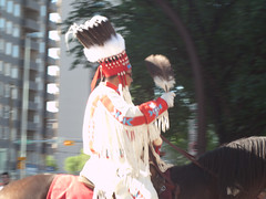 Native Rider (David R. Crowe) Tags: people canada calgary parades ab places celebration alberta northamerica types horsebackriding calgarystampede amerindian outdooractivities
