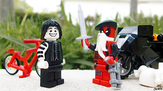 Week 28 (chrisofpie) Tags: chris project pie toy toys outdoors funny lego jester lol liam legos hero knight brave heroes minifig weeks mime 52 minifigure 52weeks deadpool stunningphotography wadewinstonwilson legohero whitejester stunningphotogpin chrisofpie 52weeksofliamthemime