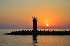 rising sun (nabilelsherif) Tags: sea sky sun nikon 18105mm d5100 bestcapturesaoi elitegalleryaoi mygearandme mygearandmepremium