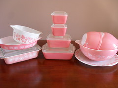 My Pyrex Pinks (prettypyrex) Tags: pink dishes pyrex fridgies