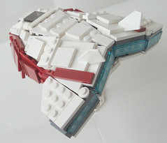 Angleos - Rear 3/4 (.Jake) Tags: white lego space angles engines spaceship starfighter