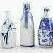314. Group of Blue & White Porcelain Sake Bottles