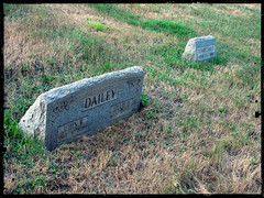 John and Lillie Dailey Gravesite (Guy Fisher) Tags: ohio cemetery 1930s clark genealogy 1910s cleaner sanna dailey gravemarker mccombs riverviewcemetery eastliverpool columbianacounty pixlr dad