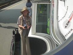 Volumatic Mirror Me (kenjonbro) Tags: camera uk england selfportrait reflection london westminster hat mirror cross trafalgarsquare bermondsey charingcross southwark bankside se1 sw1 londonbridgestation onsafari kenjonbro fujifilmfinepixhs10 volumaticmirror