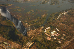 Miniature People (aaafotos) Tags: sky eye water birds waterfall view victoria falls helicopter biggest widest