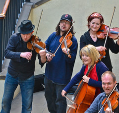 Mad musicians (DobingDesign) Tags: street urban music london musicians fun streetperformers performance musical harmony coventgarden strings mad tunes instruments ensemble violins streetperformance musicalinstruments cellos playingtogether