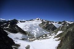 ötztal alps (Ron Layters) Tags: ötztalalps wildespitze pitztalerglacier tirol mountain glacier secondhighestmountaininaustria oetztalerwildspitze snow peaks crevasses landscape bluesky solden austria slidefilmthenscanned slide transparency fujichrome provia pentax pentaxmz10 ronlayters geotagged geo:lat=4691435855337608 geo:lon=1091319735977058 highestpositioninexplore477onfridayaugust242012 interesting 1k 2k 5k 10k 20k 3k tyrol 25k explore 50k 100k explored