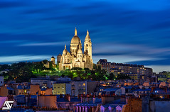 Sacré-Coeur (A.G. Photographe) Tags: sunset paris france french nikon basilica montmartre sacrécoeur ag capitale nikkor fx 70200 hdr parisian anto d800 basilique xiii parisien vrii sacredhearth antoxiii hdr5raw agphotograpge