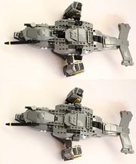 DARKWATER Vulture landing gear (Andreas) Tags: lego military vulture darkwater vtol gunship dropship thepurge thepurgedarkwater darkwaterdropship heavyvtol orbitaldropship